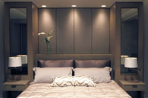 Built In Bed with Upholstered Panels   Modern   Bedroom   New York   by Aguirre Design