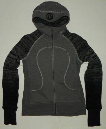 Jaket Hoodie Special womens size 8 lululemon special edition quilted scuba