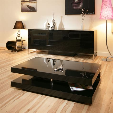 beautiful coffee side table tables black gloss modern