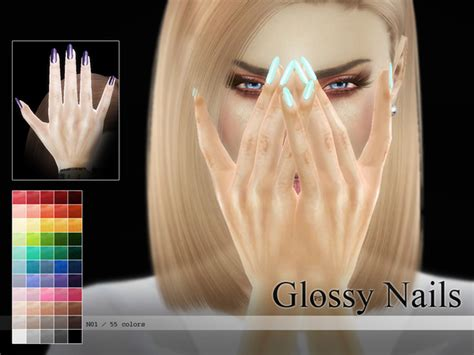 Bathroom Insects Glossy Nails N01 By Pralinesims At Tsr 187 Sims 4 Updates