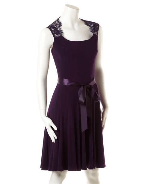 lace shoulder dress with ribbon belt cleo