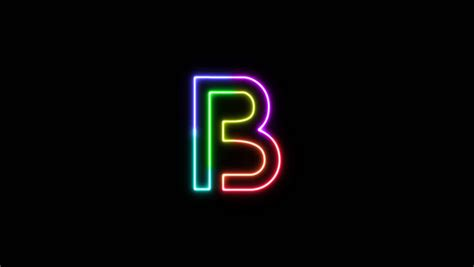 letter  outline neon stock footage video  royalty