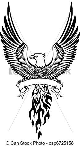 vector of phoenix and emblem csp6725158 search clip art