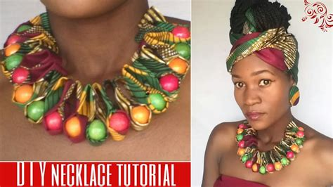 how to make ankara jewelry diy ankara print ruffle beaded necklace
