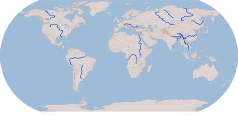 world map of large rivers blank map of the world with major rivers new