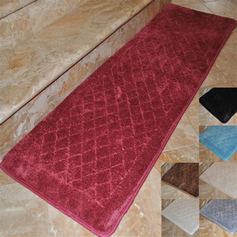 Bathroom Rug Runners Step Into Plush Comfort When You Add This Memory Foam Bath Rug To Your Bathroom Decor