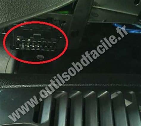 lada scanner obd2 connector location in lada granta 2011 outils