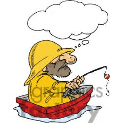 grumpy lobster boat captain fisherman fishing in a boat clipart 29