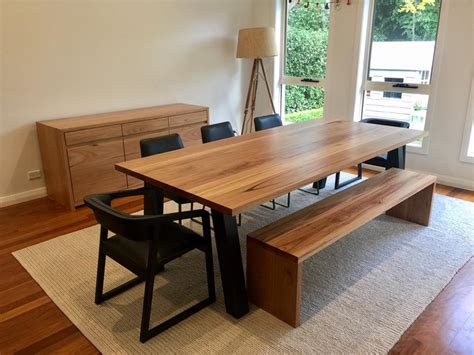 recycled timber dining table melbourne lumber furniture