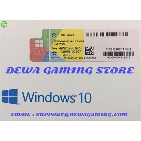Windows 8 Pro Original Licence Key Serial Number 1 windows 10 pro professional oem license key coa scan