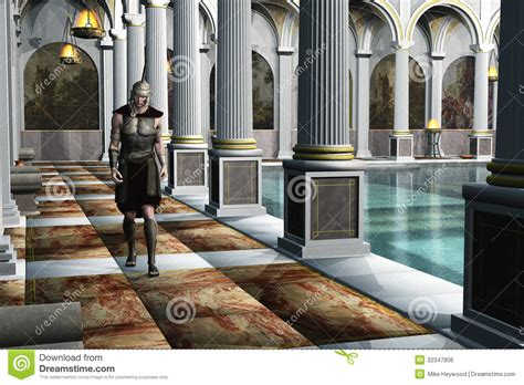 Luxury House Plans With Pools by Roman Soldier In Bath House Royalty Free Stock Image