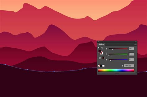 vector gradient tutorial how to create a colorful vector landscape illustration