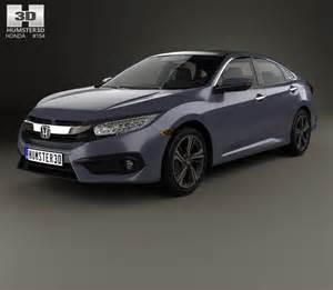 honda civic sedan touring 2016 3d model humster3d