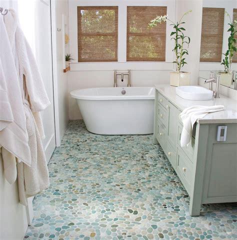 pebble floor bathroom pebbles stones topical