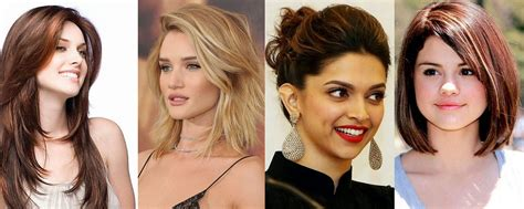 hairstyles according to face shape modern hairstyles according to face type fashionbuzzer com