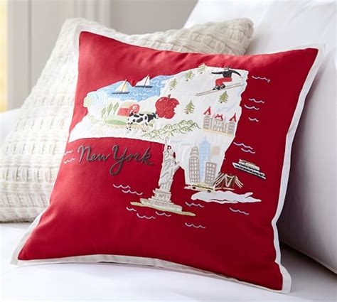 Embroidered Pillow Cover by New York Embroidered Pillow Cover Pottery Barn