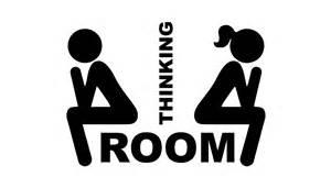 Thinking room wc door decal
