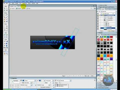 tutorial photoshop cs3 banner 1 how to make a cool banner in adobe fireworks cs3 youtube