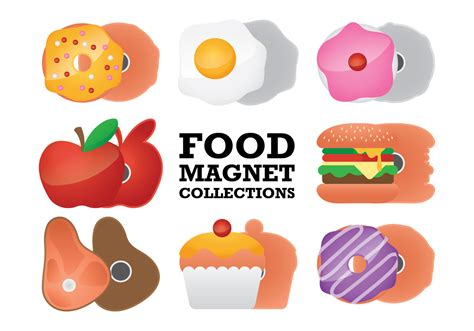 magnet cuisine food fridge magnet collection vectors free