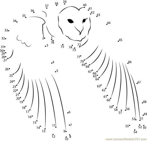 owl dot to dot printable free coloring pages of owl dot to dot