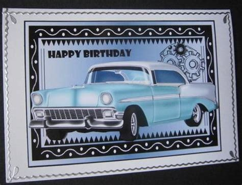 Card Cars Happy Family 50s car happy birthday 1 cup433171 66 craftsuprint