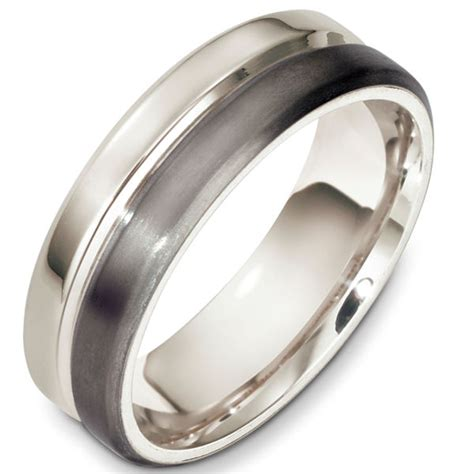 f133241tp titanium and platinum contemporary wedding band