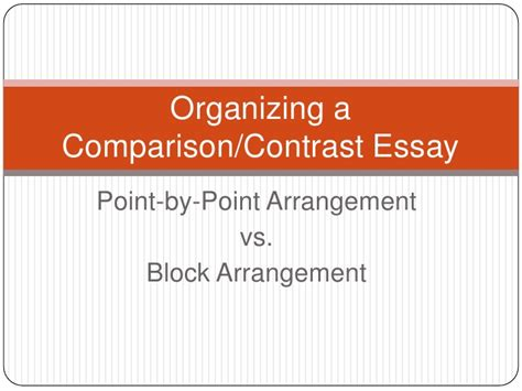 Compare And Contrast Essay Format Point By Point by Comparison Contrast Essay