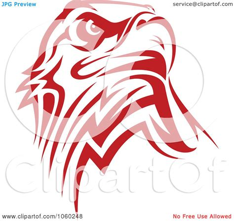 Royalty-Free Vector Clip Art Illustration of a Red Eagle ... Art Clipart Logo