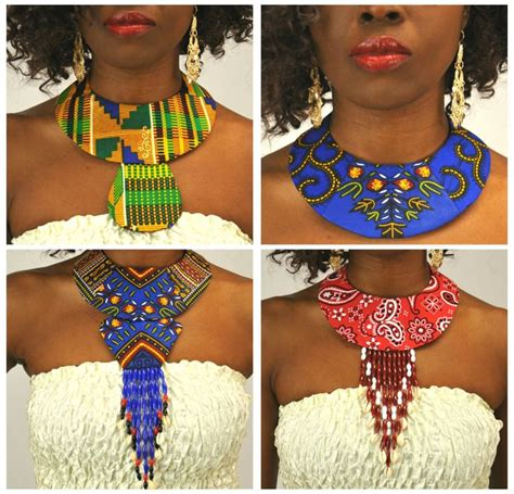 ankara fabric necklace handmade fabric dashiki kente ankara african print
