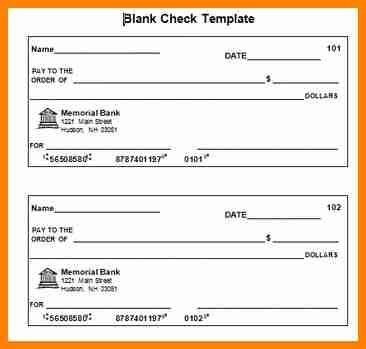 5 editable blank check template mail clerked