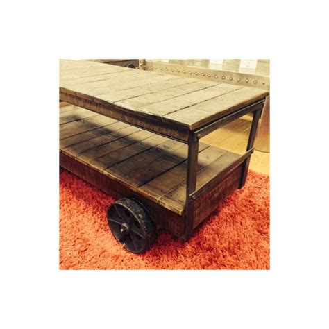 Trolley Cart Coffee Table Industrial Cart Trolley Coffee Table Vintage Style With Reclaimed Wood