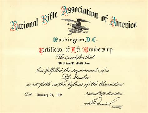 nra certificate template nra documents
