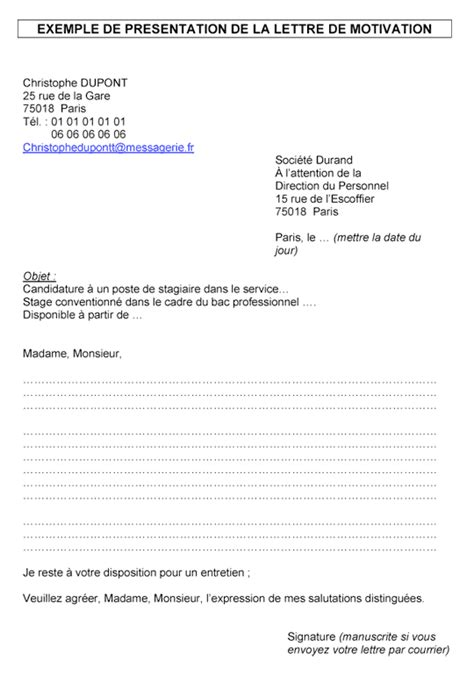 Exemple De Lettre De Motivation Pour Faire Un Stage En Hopital Faire Un Lettre De Motivation