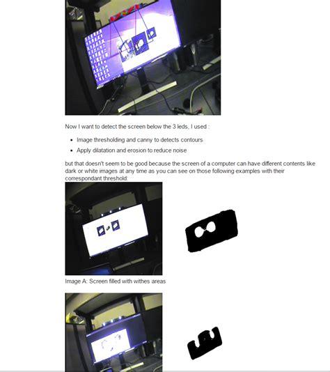 ir led opencv screen detection using opencv emgucv