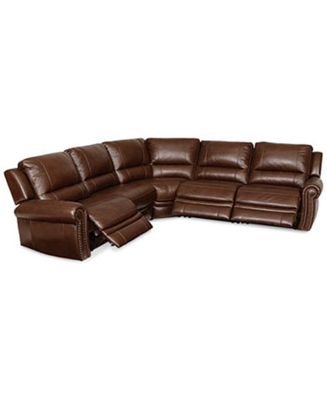 5 piece leather sectional langston leather 5 piece power motion sectional sofa with
