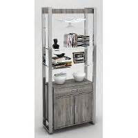 chrome and glass bookcase glass and chrome bookcase rc willey furniture store