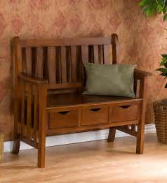 Mission Oak Sofa Indoor Wood Storage Craftsman Style Bench Mission Style