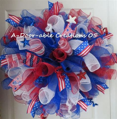 wow xl spiral patriotic deco mesh wreath wreaths