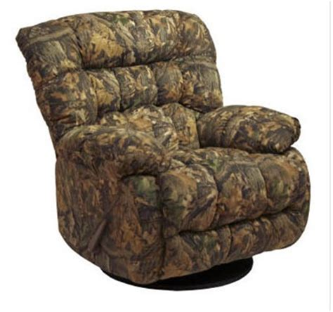 catnapper camo recliner teddy bear mossy oak camouflage chaise swivel glider
