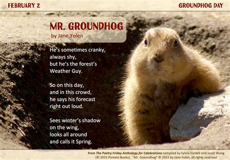 groundhog day will come poetry for children ready for celebrating