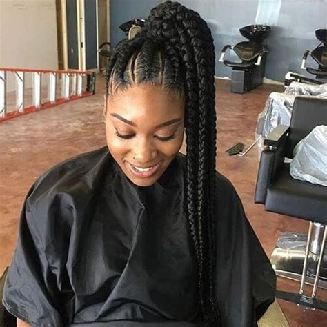 ponytail weave hairstyle with twisties high side swept braided ponytail natural hair