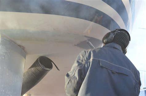 polyester boot laten stralen antifouling verwijderen onze aanpak mogelijkheden