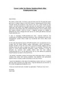 sle cover letter cover letter exles returning
