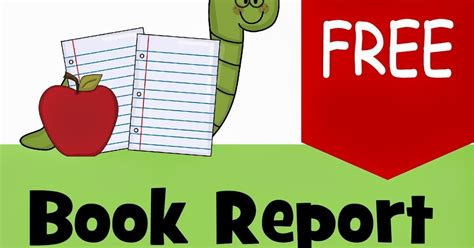 free book reports free book report template