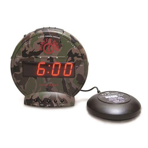 sonic alert bunker bomb sbc575ss loud vibrating alarm clocks harris communications