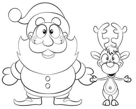 coloring pages of santa and reindeer reindeer coloring pages and santa christmas bebo pandco