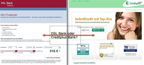 dsl bank kredit kreditvergleich dsl privatkredit vs creditplus sofortkredit