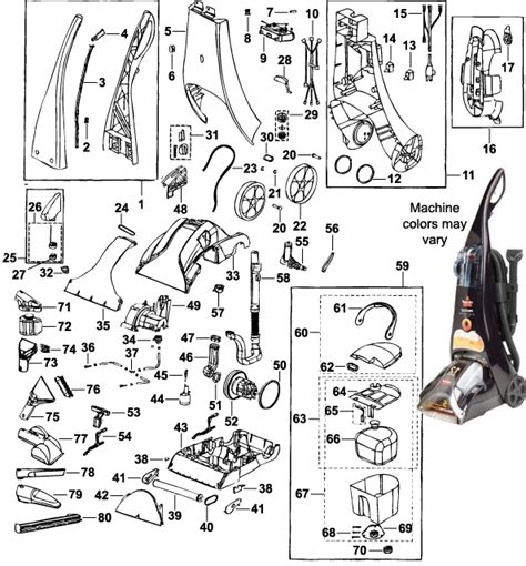 bissell proheat parts diagram bissell 8910 proheat 174 pet cleaning system parts