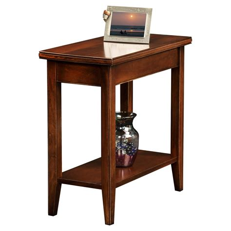 long narrow accent tables leick laurent narrow chairside end table end tables at