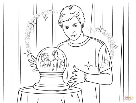 wizard of waverly place free coloring pages